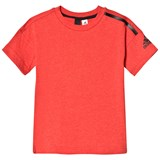 adidas Performance Red Boys Zone Tee
