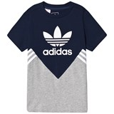 adidas Originals Navy and Grey Logo Tee