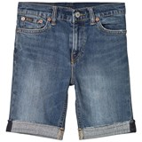 Ralph Lauren Blue Mid Wash Turn Up Slim Denim Shorts