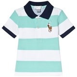 Ralph Lauren Mint Green and White Stripe Big Pony Polo