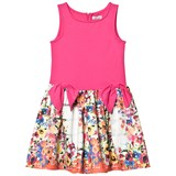 Jeycat Pink and Floral Print Dress