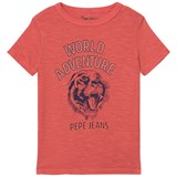 Pepe Jeans Red Floy World Adventure Tier Graphic Tee
