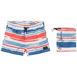 Pepe Jeans Blue and Red Elton Swim Shorts