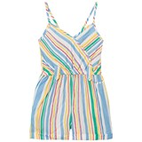 Pepe Jeans Blue, Yellow and Green Mary Stripe Playsuit