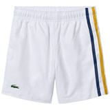 Lacoste White Side Stripe Tennis Shorts
