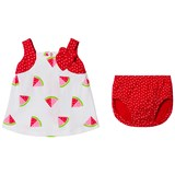 Agatha Ruiz de la Prada Red And White Watermelon Print Dress And Bloomers