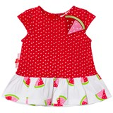 Agatha Ruiz de la Prada Red And White Watermelon Print Spotted Dress