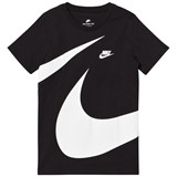 Nike Black and White Short Sleeve Giant Swoosh Tee