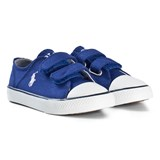 Ralph Lauren Royal Blue Canvas Velcro Trainers with Navy Pony
