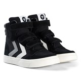 Hummel Black Stadil Canvas Duo High Top Junior Trainers