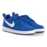 Nike Blue And White Court Borough Low Shoes