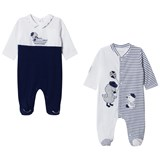 Mayoral Pack of 2 Navy and White Duck Babygrows