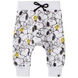 Tobias & The Bear White Snoopy & Woodstock Loop Back Joggers