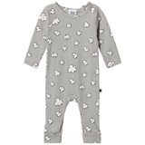 Tobias & The Bear Pale Grey Clouds Long Baby Romper