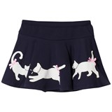 Kate Mack - Biscotti Navy Cat Applique and Diamante Skirt
