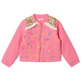 Billieblush Fuchsia Sequin Shoulder Cotton Jacket