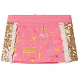 Billieblush Fuchsia Pink and Gold Sequin Mini Skirt