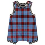 Burberry Cornflour Blue and Red Check Dungarees