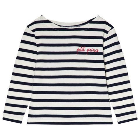 23533b024355da Maison Labiche White and Dark Blue Striped