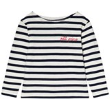 Maison Labiche White and Dark Blue Striped