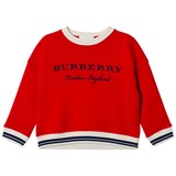 Burberry Red Branded Sweatshirt