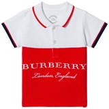 Burberry White Classic Branded Dary Polo
