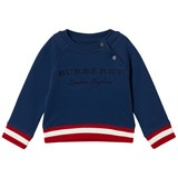 Burberry Blue Branded Mini Stanley Sweatshirt