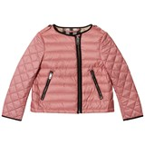 Burberry Pink Gina Collarless Bomber Jacket