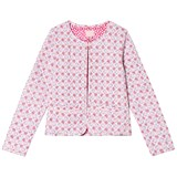 Joules Pink Mosaic Print Quilted Cropped Jacket