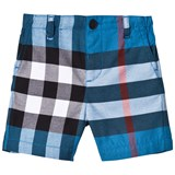 Burberry Blue Check Sean Shorts