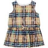 Burberry Beige and Blue Updated Check Mini Mabel Dress