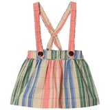 Burberry Pink and Blue Stripe Sophya Skirt with Braces