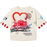 Burberry Cream Campervan and Heart Print Valeria Sweatshirt