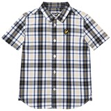 Lyle & Scott Navy and Yellow Short Sleeve Check Shirt