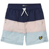 Lyle & Scott Navy, Pink and Blue Colour Block Swimshorts