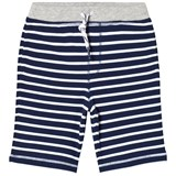 Lands' End Navy Stripe French Jersey Shorts