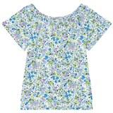 Lands' End Multi Flower Print Knit Top