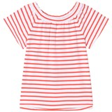 Lands' End Red Striped Novelty Knit Top
