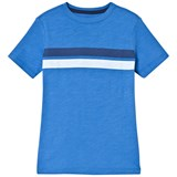 Lands' End Blue Short Sleeve T-Shirt with Double Stripe