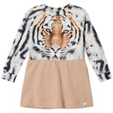 Popupshop Peach Tiger Print Robbie Dress