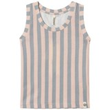 Popupshop Peach and Green Stripe Tank Top