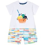 Fendi White Ice Cream Monster Print Romper