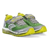 Geox Lime Green Android Velcro Light Up Trainers