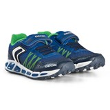 Geox Blue and Green Shuttle Light Up Trainers