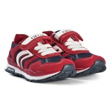 Geox Red Pavel Velcro Trainers