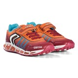 Geox Red and Orange Shuttle Light Up Trainers