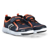 Geox Navy and Orange Xunday Velcro Trainers