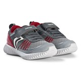 Geox Grey and Red Waviness Flexible Shoe