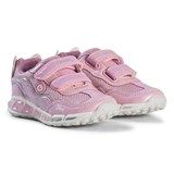 Geox Pink Glitter Shuttle Girl Light Up Trainers