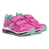 Geox Pink Android Velcro Light Up Trainers